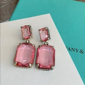 Jewelry - 925 Sterling Designer earrings ruby translucent